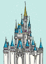 Load image into Gallery viewer, Disneyland Castle - Cinderella's Castle - A4 Art Print by Hungry Designs