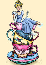 Load image into Gallery viewer, Teacup Cinderella- A4 Art Print by Hungry Designs