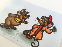 Load image into Gallery viewer, Gus and Jaq - Cinderella Mice Postcard