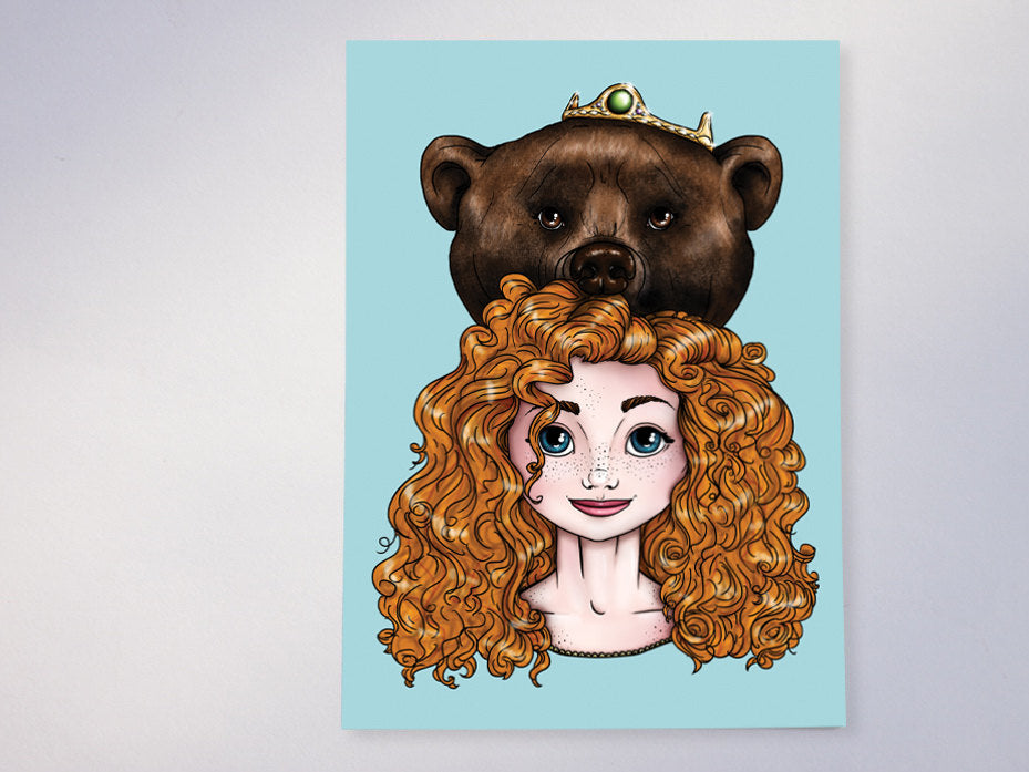 Hunter Merida Brave Postcard