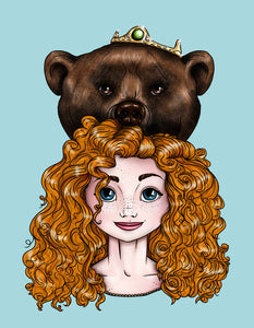 Hunter Merida Brave A4 Art Print by Hungry Designs