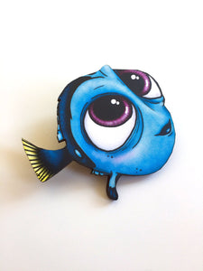 Baby Dory - Finding Nemo - Laser Cut Wood Brooch