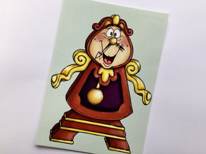 Cogsworth - Beauty and the Beast - Postcard