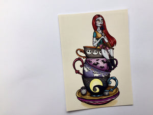 Teacup Sally - A Nightmare Before Christmas - Postcard