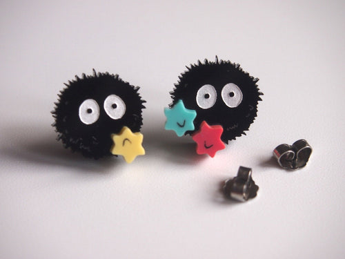 Soot Sprite Laser Cut Acrylic Earrings - Studs