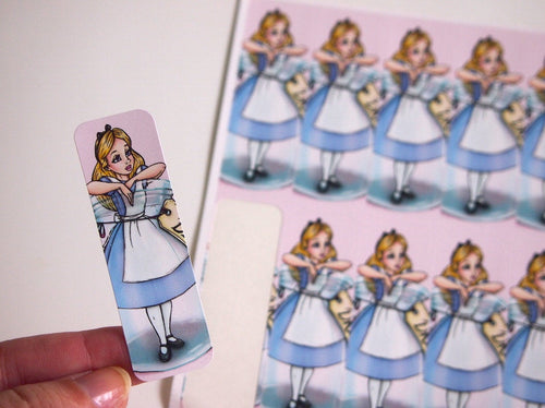 Sheet of Stickers - Alice in a Bottle - Alice in Wonderland