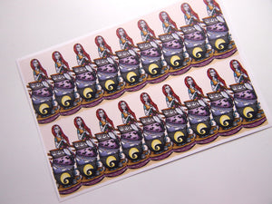 Sheet of Stickers - Teacup Sally - A Nightmare Before Christmas