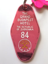 Load image into Gallery viewer, The Grand Budapest Hotel - Hotel Room Key Ring - Wes Anderson - Keychain - Laser Cut Acrylic