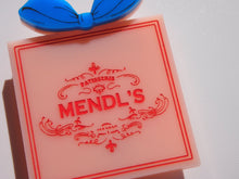 Load image into Gallery viewer, Mendl's Box Brooch - The Grand Budapest Hotel - Wes Anderson - Layered Laser Cut Acrylic