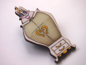 The Wardrobe - Madame de la Grande Bouche -  Beauty and the Beast Laser Cut Wood Brooch