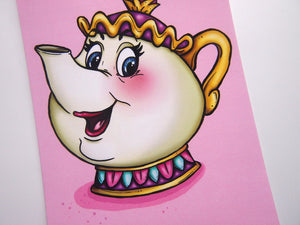 Mrs Potts - Beauty and the Beast - Postcard