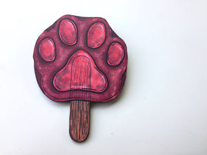 Pawpsicles - Zootopia / Zootropolis - Laser Cut Wood Brooch