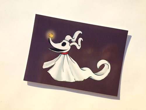 Zero - A Nightmare Before Christmas - Postcard