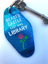 Load image into Gallery viewer, Beauty and the Beast - Beast's Castle Library - Key Ring - Keychain - Laser Cut Acrylic