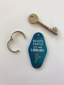 Beauty and the Beast - Beast's Castle Library - Key Ring - Keychain - Laser Cut Acrylic