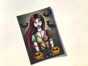 Emily - The Corpse Bride - Sally - A Nightmare Before Christmas - Postcard Pair