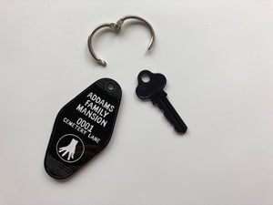 Addam's Family Mansion - Cemetery Lane - Keychain - Key Ring - Laser Cut Acrylic