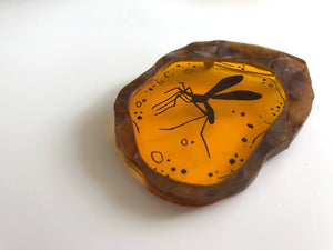 Mosquito in Amber - Jurassic Park - Laser Cut Acrylic Brooch
