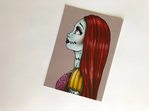 Sally - The Nightmare Before Christmas Postcard