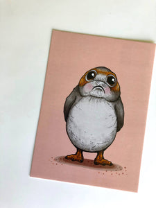 Blushing Porg - Star Wars - Postcard