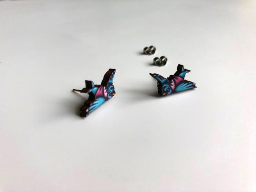Blue Birds from Cinderella - Laser Cut Wood Earrings