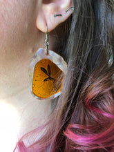 Load image into Gallery viewer, Mosquito in Amber - Jurassic Park - Laser Cut Acrylic Dangle Earrings