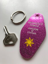 Load image into Gallery viewer, Rapunzel - Rapunzel's Tower - Kingdom of Corona - Key Ring - Keychain - Laser Cut Acrylic