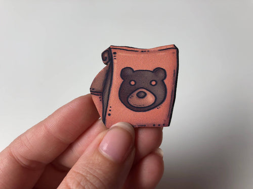 Animal Crossing Pocket Camp Gift Bag Brooch- Laser Cut Wood Brooch