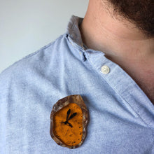 Load image into Gallery viewer, Mosquito in Amber - Jurassic Park - Laser Cut Acrylic Brooch