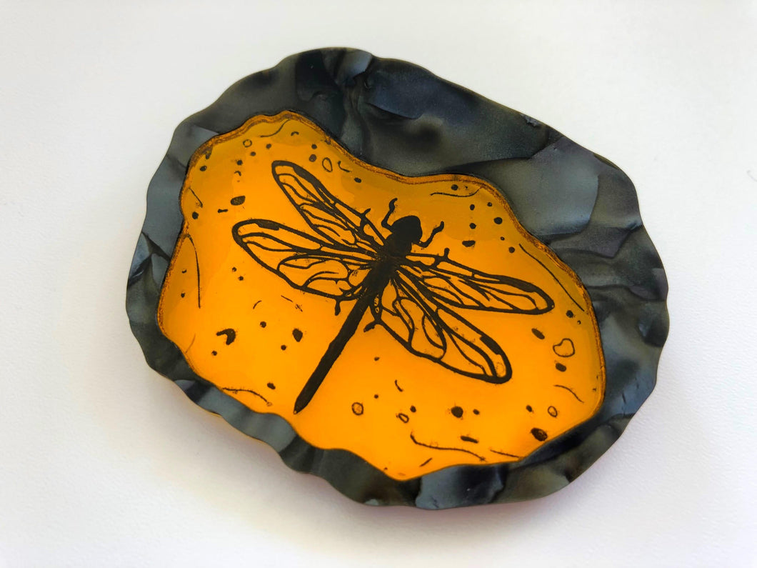 Dragonfly in Amber - Outlander - Laser Cut Acrylic Brooch