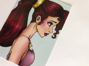 Meg - Megara from Hercules Postcard