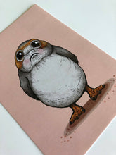 Load image into Gallery viewer, Blushing Porg - Star Wars - Postcard