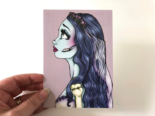 Emily - The Corpse Bride - Postcard
