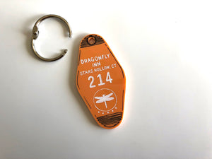 The Dragonfly Inn - Gilmore Girls - Hotel Room Key Ring - Keychain - Laser Cut Acrylic
