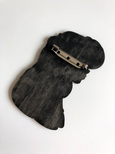 NEW LARGER Princess Profile - Esmeralda - The Hunchback of Notre-Dame - Laser Cut Wood Brooch