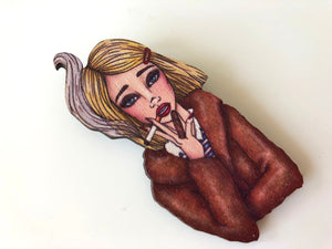 Margot Tenenbaum - The Royal Tenenbaums - Laser Cut Wood Brooch