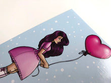 Load image into Gallery viewer, Heart Balloon Girl - Postcard