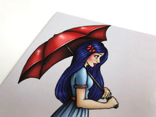 Load image into Gallery viewer, Red Umbrella Girl - Postcard
