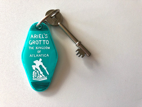 Ariel's Grotto - The Little Mermaid - Key Ring - Keychain - Laser Cut Acrylic