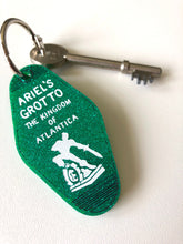Load image into Gallery viewer, Ariel's Grotto - The Little Mermaid - Key Ring - Keychain - Glitter Green Laser Cut Acrylic