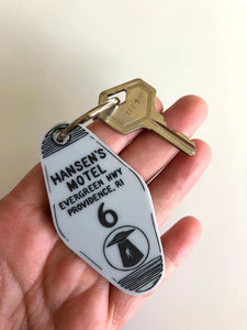 Hansen's Motel - The X-Files - Hotel Room Key Ring - Keychain - Laser Cut Acrylic