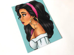 Esmeralda - The Hunchback of Notre-Dame - Postcard