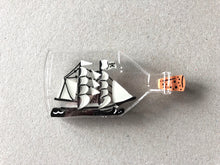 Load image into Gallery viewer, Ghost Ship in a Bottle - Glow in the Dark - Laser Cut Acrylic Brooch