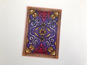 Magic Carpet - Aladdin - Postcard