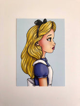 Load image into Gallery viewer, Alice - Profile - Alice in Wonderland - Postcard