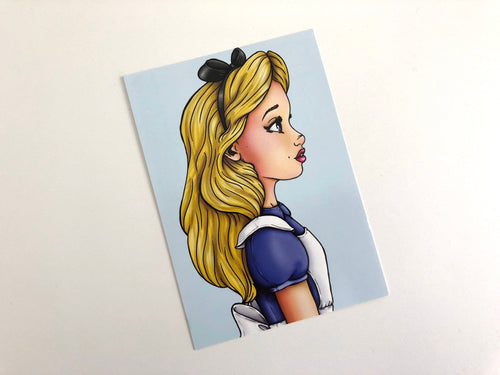 Alice - Profile - Alice in Wonderland - Postcard