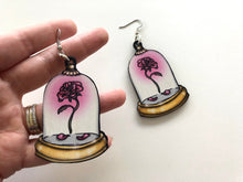 Load image into Gallery viewer, Enchanted Rose - Beauty and the Beast - Laser Cut Wood Earrings