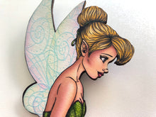 Load image into Gallery viewer, Tinker Bell - Peter Pan - Oversized Laser Cut Wood Brooch
