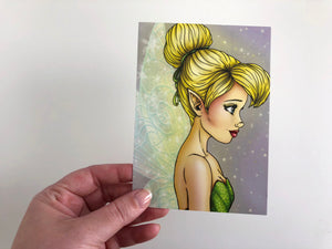 Tinker Bell - Profile - Peter Pan - Postcard
