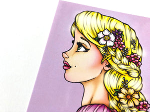 Rapunzel - Tangled - Princess Profile Postcard